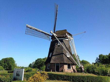 Drenthe, Mill, Nature, Landscape, Netherlands