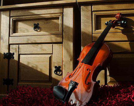 Violin, Music, Art, Shadows, Strings, Percussion