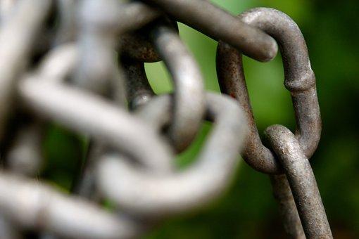 Chains, Locked, Metal, Safety, Prison