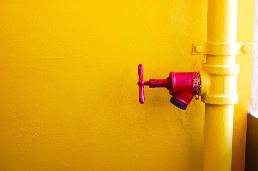 Pipe, Red, Water, Metal, Pipeline, Industrial, Tube