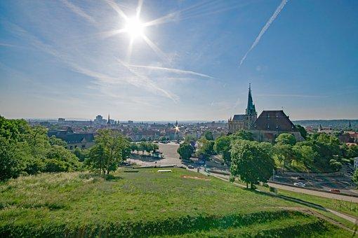 Petersberg, Erfurt, Thuringia Germany, Germany, View