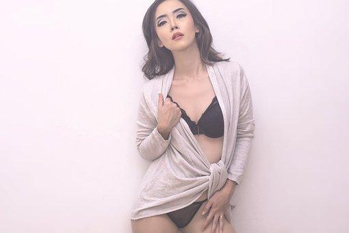 Underwear, Girl, Asian, Adult, Model, Female, Fashion