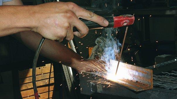 Welding, Iron, Worker, Industry, Steel, Welder, Metal