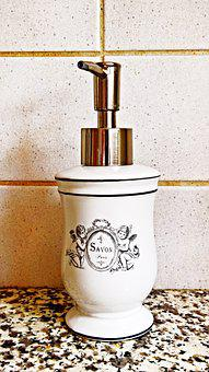 Soap Dispenser, Soap, French, Nostalgic, Liquid Soap