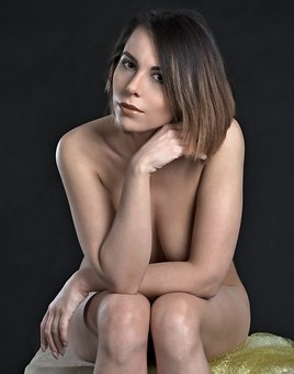 Girl, The Act Of, Woman, Nude, Character, Portrait