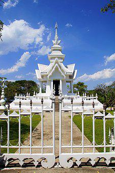 Chiang Rai, Thailand, White Temple, Temple, Goal, Sky
