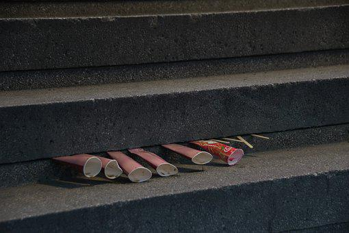 Popsicle, Ice Cream, Melting, Outdoor, Stairs, Concrete