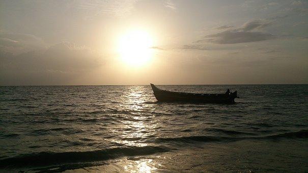 Beach, Landscape, Travel, Ocean, Orange, Romatic, Sky