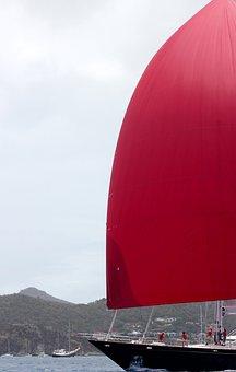 Red Sail, Sea, Navigation