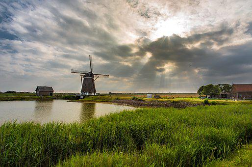 Windmill, Holland, Historically, Netherlands, Mill
