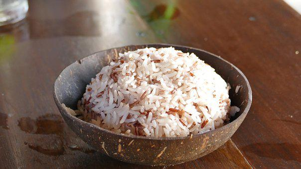 Rice, Coconut, Eat, Shell, Nutrition, Healthy