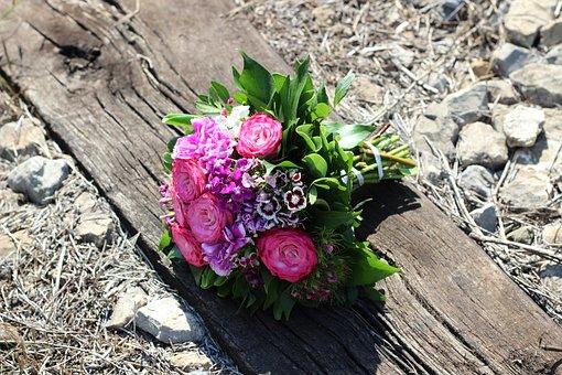 Rose Bouquet On Railway, Stop Child Suicide