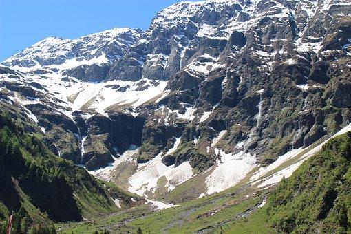 Mountains, Lake, Hintersee, Tyrol, Salzburger Land, Sky