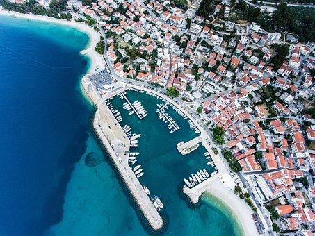 Croatia, Dalmatia, Sea, Port, Town Center, Ships, Coast