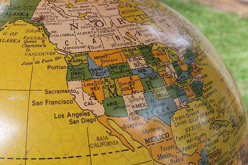 Globe, Vintage, E, World, Travel, Map, Earth, Planet