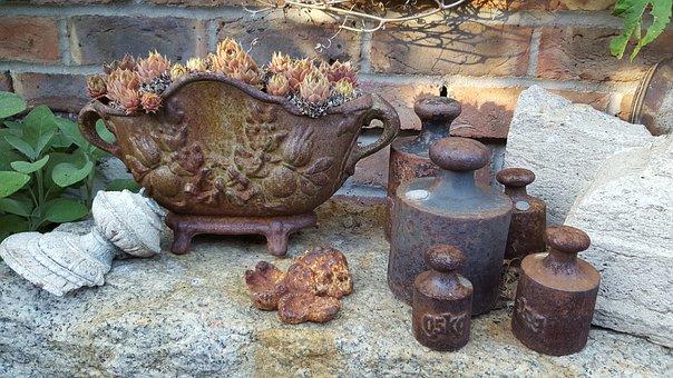 Decoration, Garden, Shabby Shick, Vintage, Old, Planter