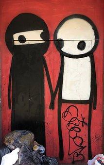 Grafitti, Street Art, Art, Colorful, Box, Graffiti, Red