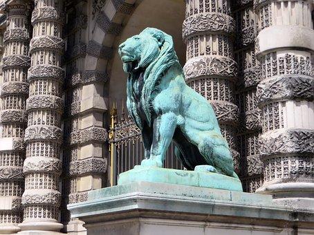 Paris, The Louvre, Lions Gate, Lion, Bronze, Decoration