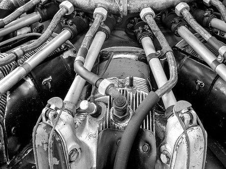 Aircraft, Engine, Old, Veteran, Engines, Transport