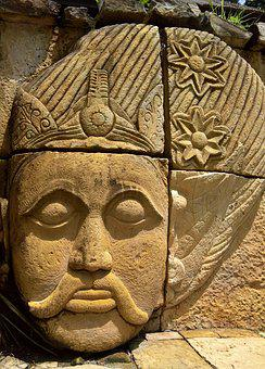 Bali, Face, Art, Indonesia, Sculpture