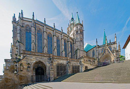 Erfurt Cathedral, Erfurt, Thuringia Germany, Germany