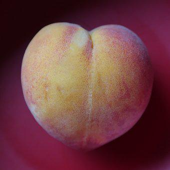 Peach, Heart, Gradient