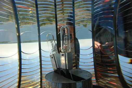 Lighthouse, Light, Lens