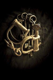 Keys, Handcuffs, Sepia, Crime, Arrest, Justice, Old