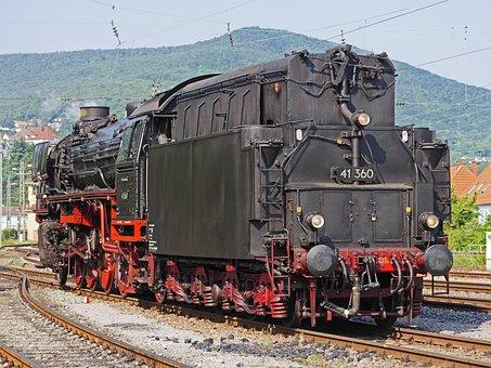 Steam Locomotive, ölgefeuert, Oil Tender, Rear View