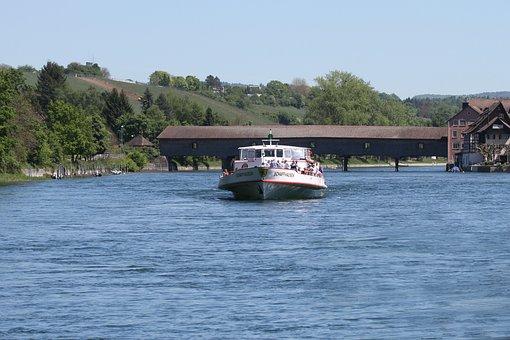 Shipping, Rhine, River, Water, Boats, Transport, Ship