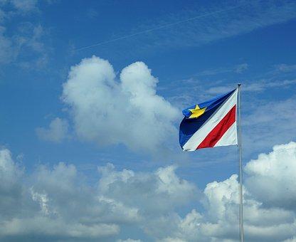 Zollikon, Zurich, Flag, Cloud, Sky, White, Blue