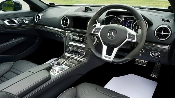 Car, Interior, Steering, Wheel, Vehicle, Automobile