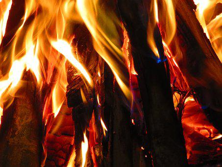 Wood, Fire, Campfire, Bonfire, Heat, Lena, Flames, Hot