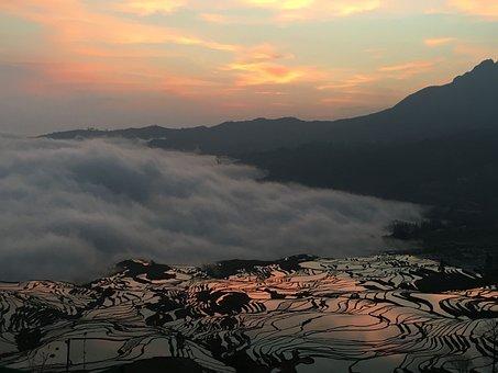 Yuanyang Rice Terraces, Sunrise, Cloud