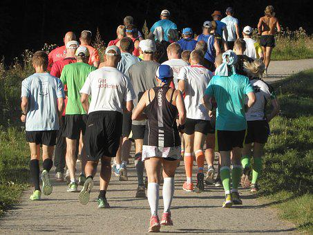 Running, Group, Jogging, People, Exercise, Runner
