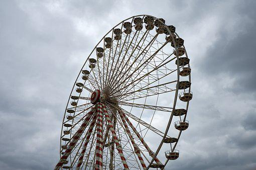 Manege, Ferris Wheel, Height, Attraction, Wheel, Fair