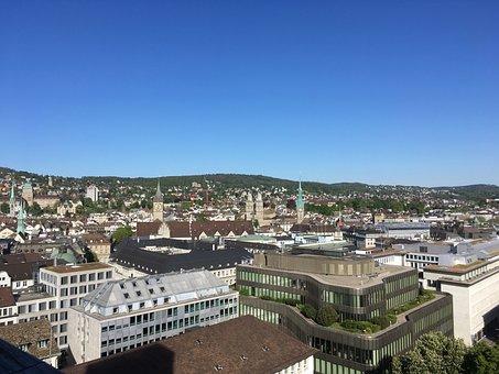 Zurich, Tower, Munster, Cityscape, Grossmunster