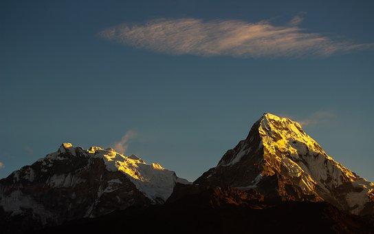Mountain, Annapurna, Nepal, Landscape, Himalaya, Travel