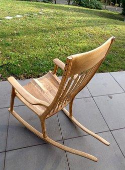 Rocking Chair, Walnut, Seat