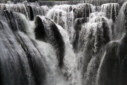 Falls, Water Flow, Rushing, Pentium, Brook, Mountain