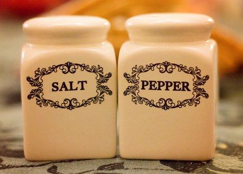 Salt And Pepper, Shakers, Salt, Pepper, Spice, Table