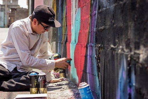 Graffiti, Artist, Spraycan, Art, Urban, Street