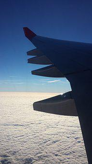 Fly, Clouds, Wing, Aircraft, Sky