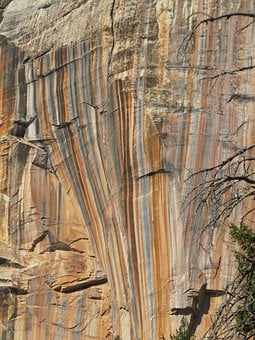 Grand Canyon, North Rim, Colorful Rock Face, Colorful
