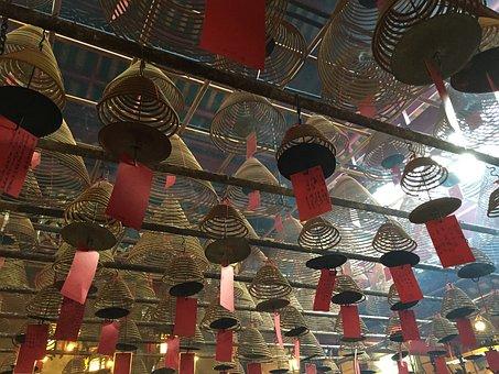 Hong Kong, Temple, Decoration, Religion, China