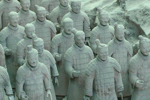 Terracotta Warriors, China, Ancient, Dynasty, Army