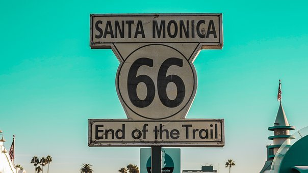 Sign, Route66, Santamonica, Sky, Usa, Amazing