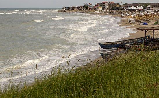 Beach, Sand, Boat, Great, Landscape, Water, Blue