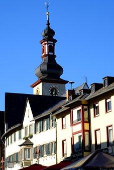Steeple, Building, Church, Catholic, Religion, Germany