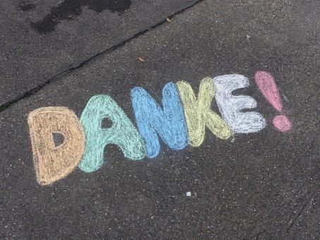 Thank You, Straßenkreide, Chalk Art